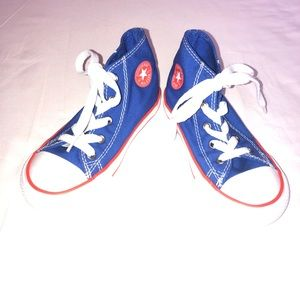 Boys New Converse High Top Sneakers Blue 9 Toddler